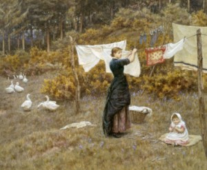 helen-allingham-hanging-the-washing