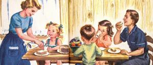 familia jantando