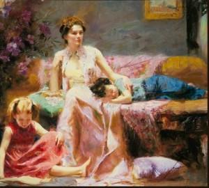 mae e filhos