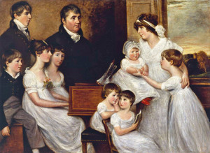 The Bridges Family 1804 by John Constable 1776-1837