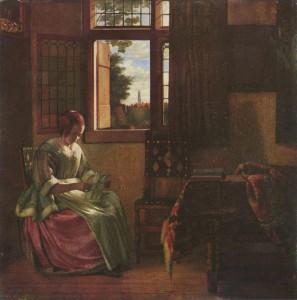 Hooch,-Pieter-de-xx-Woman-Reading-a-Letter