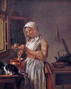 Wybrand Hendriks (Dutch painter, 1744-1831) Milkmaid 1800