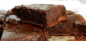 brownie de tres ingredientes foto