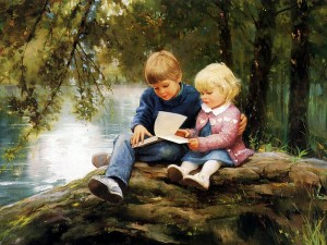 painting_children_kjb_DonaldZolan_62ForestsandFairytales_sm
