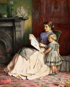 George Goodwin Kilburne - Mother and Daughter