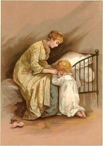 crianca orando