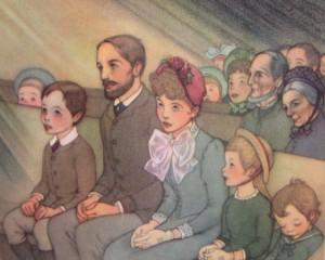 familia na igreja