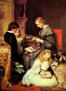 cope charles west Victorian Painter 1811 – 1890 5 stars phistars A Life Well Spent (1862)