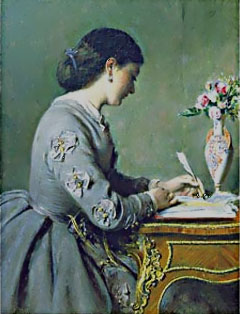 victorian-woman-writing