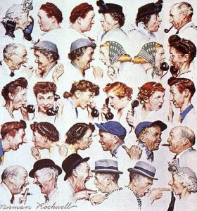 "Norman Rockwell's ""The Gossip"" Fonte: Pinterest"