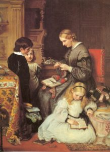 victorian mom and kids