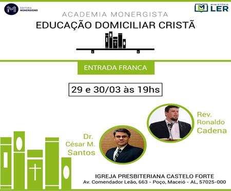 """[Fica a Dica] """"Educação Domiciliar Cristã"""" – Evento"""