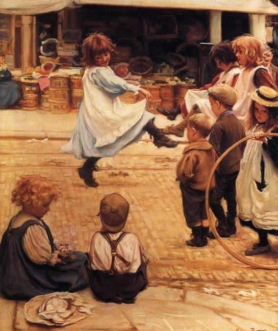 """""""Crianças Brincando – Sinal da Bênção de Deus"""" Por Terreth Klaver"""